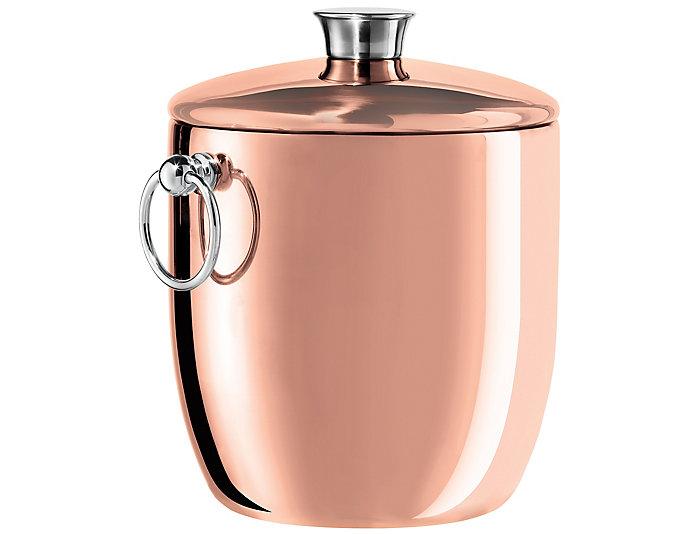 S/S Ice Bucket w/Tongs, , large