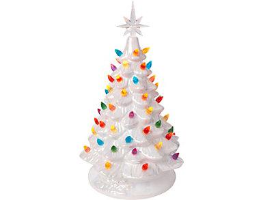 Light Up Ceramic Christmas Tree, , large