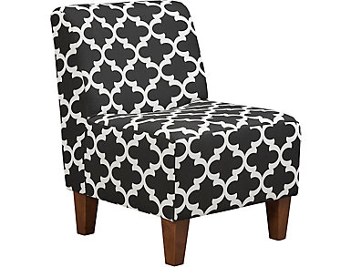 Amanda Black Accent Chair, , large