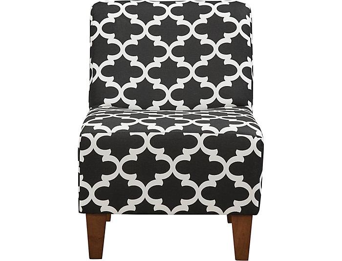 ... Amanda Black Accent Chair, , Large ...