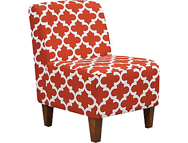 Amanda Lipstick Accent Chair, , large