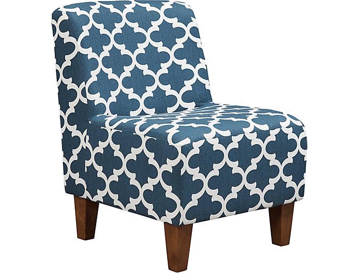 Amanda Navy Accent Chair | Outlet At Art Van