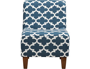 Amanda Navy Accent Chair, Navy, large