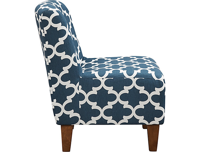 Amanda Navy Accent Chair, , large