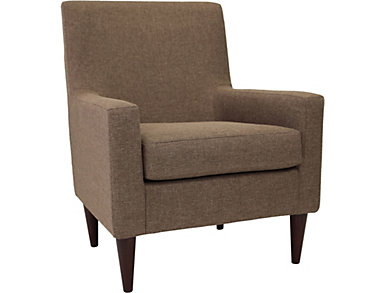 Emma Pecan Accent Chair, , large