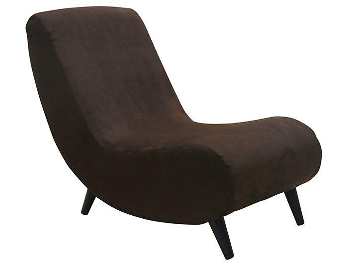 Banana Armless Chair, Brown, , large