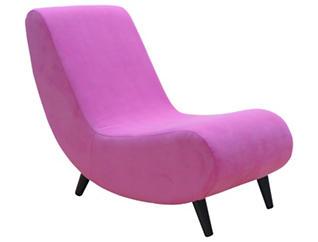 Banana Armless Chair, Pink, , large