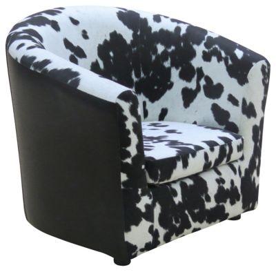 Hatton Kids Cow Chair, Black, swatch