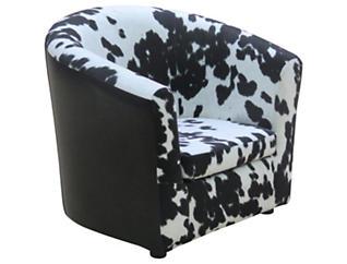 Hatton Kids Cow Chair, Black, Black, large
