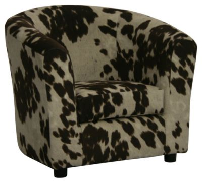 Hatton Kids Cow Chair, Brown, swatch