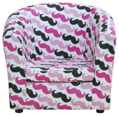 Kids Mustache Chair, Pink, swatch