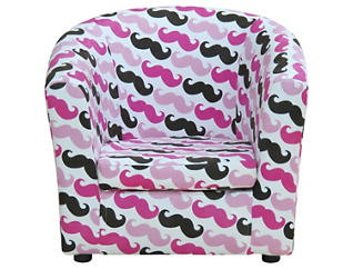 Kids Mustache Chair, Pink, Pink, large