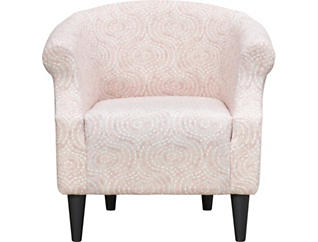 Nikole Blush Printed Accent Chair, Pink, large