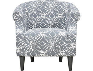 Nikole Graphite Printed Accent Chair, Black, large