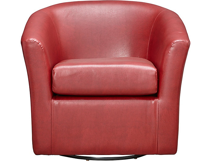 Remarkable Sten Red Swivel Accent Chair Outlet At Art Van Dailytribune Chair Design For Home Dailytribuneorg