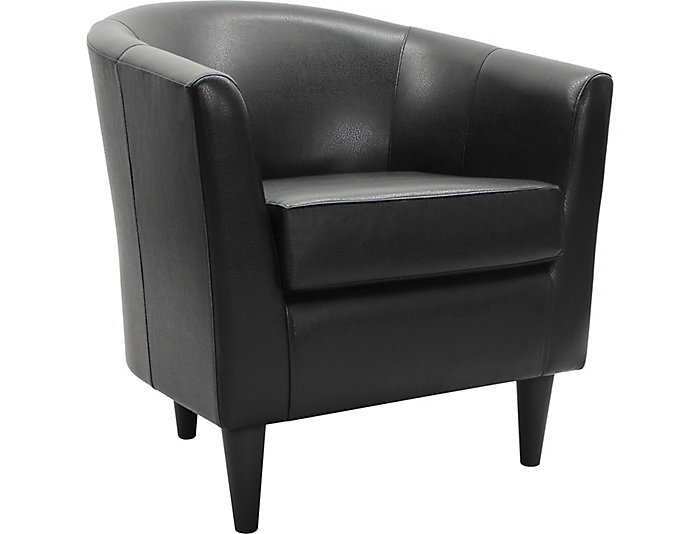 Windsor Accent Chair, Black, , large