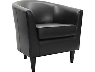Windsor Black Accent Chair, , large