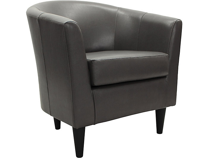 Windsor Accent Chair, Charcoal, , large