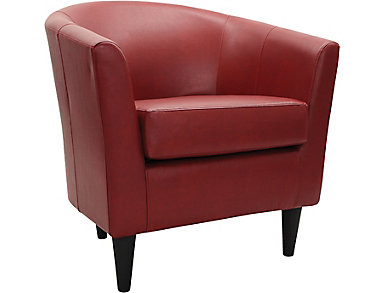 Windsor Accent Chair, Red, , large