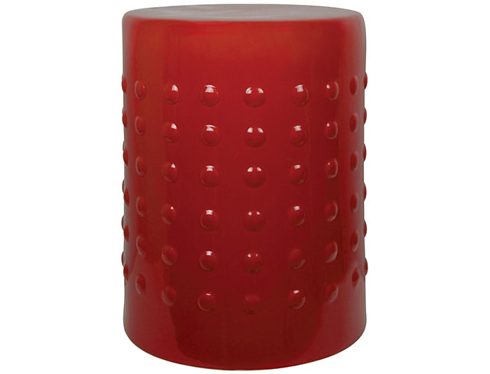 Merveilleux Red Ceramic Garden Stool, , Large
