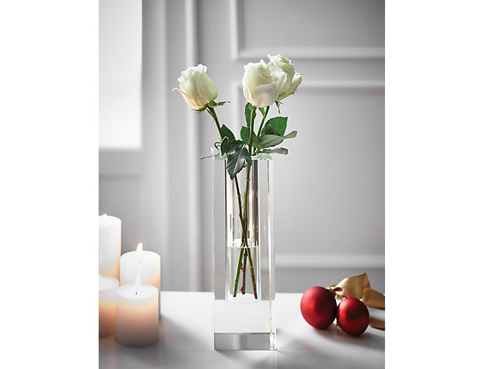 """Crystal Vase, 12""""H, , large"""