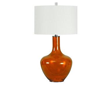 Celosia Orange Glass Lamp, , large