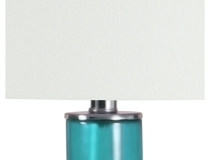 Teal Blue Glass Lamp, , large