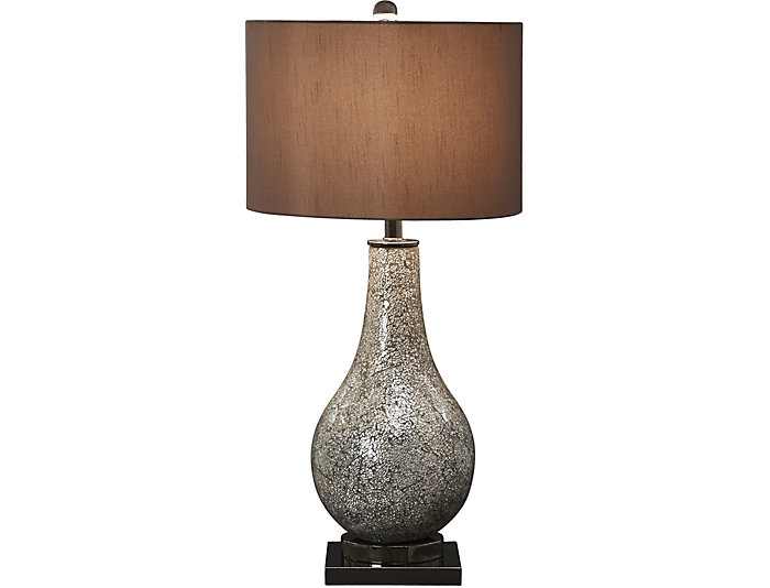 Mercury Glass Table Lamp, , large