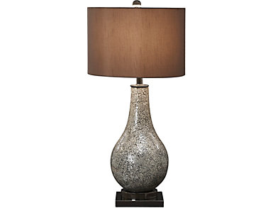 Dark Crackle Glass Table Lamp, , large