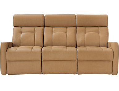 Korver Dual Power Reclining Leather Sofa, , large