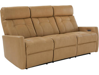Korver Dual Power Reclining Leather Sofa, , large