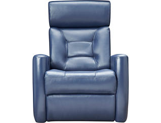 Selzer Dual Power Swivel Glider Leather Recliner, , large