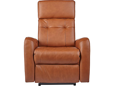 Vera Dual Power Wall Hugger Leather Recliner, , large