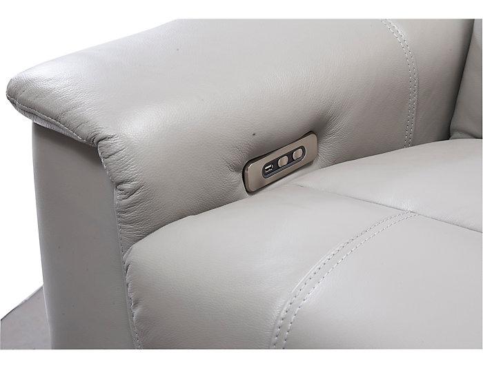 Astonishing Soto Grey 5 Piece Dual Power Reclining Leather Sectional Inzonedesignstudio Interior Chair Design Inzonedesignstudiocom