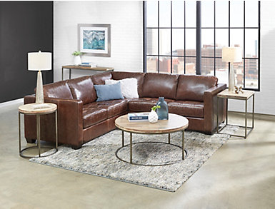 Hopson 2 Piece Leather Sectional, , large