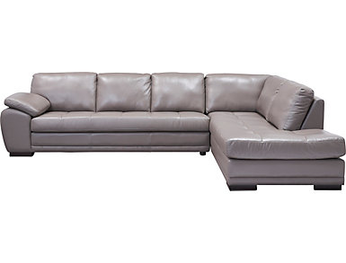 Cade 2 Piece Leather Sectional, , large