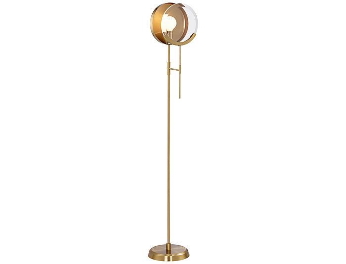 Maddox Brass Floor Lamp, , large