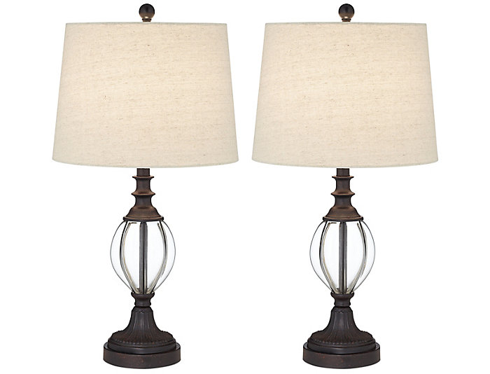 Ann Bronze Table Lamp Set of 2, , large