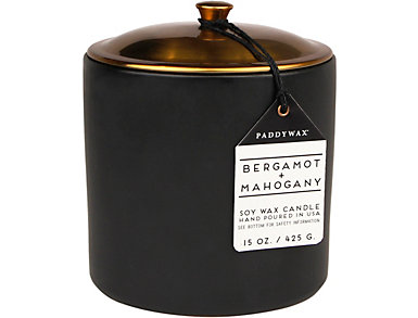 Bergamot-Mahogany 15oz Candle, , large
