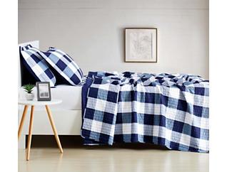 Buffalo Check Navy Twin Comforter, Blue, large