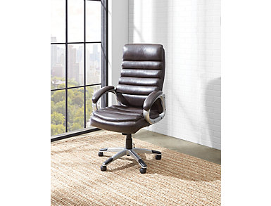 Brockton Java Desk Chair, Black, large