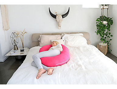 C-Shape Pink Full Body Support Pillow, , large