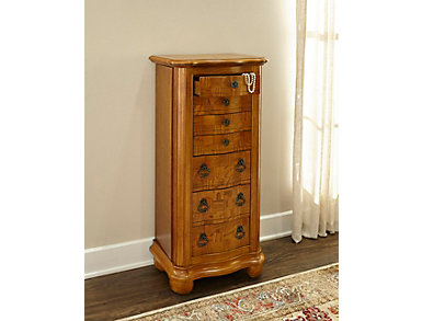 Kerarney Oak Jewelry Armoire, , large