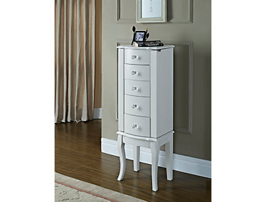 Roosevelt White Jewelry Armoire, , large