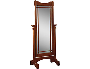 Reed Oak Cheval Mirror, , large