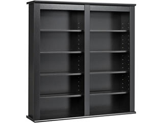 Bach Black Media Wall Storage, , large