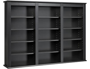 Cook Black Media Wall Storage, , large
