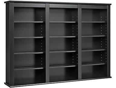 Cook Black Media Wall Storage, , large