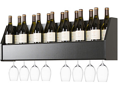 Harris Black Wall Wine Rack, , large