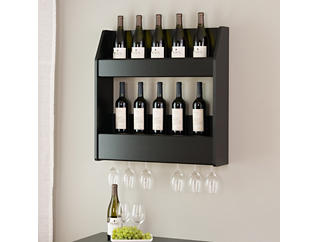 Kilmer Black Wall Wine Rack, , large